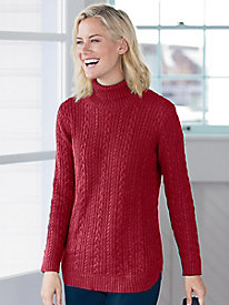 Iconic Cable Turtlneck Sweater