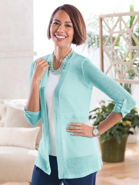 Summer Breeze Solid Cardigan Sweater
