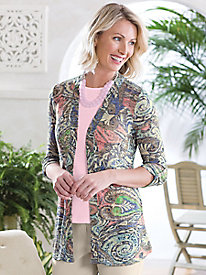 Summer Breeze Paisley Cardigan Sweater