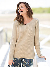 Shaker Stitch Sweater