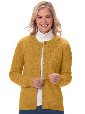 Shetland Wool Cardigan Sweater - Image 1 of 10