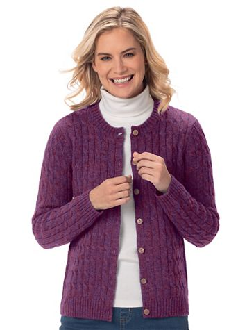 Shetland Wool Cardigan Sweater - Image 3 of 7