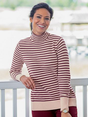 Funnel Neck Pullover Sweater - Image 1 of 6