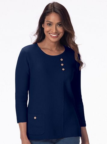 Lyrical Lines Cotton Sweater - Image 1 of 12