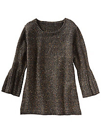 Marled Bell Sleeve Pullover