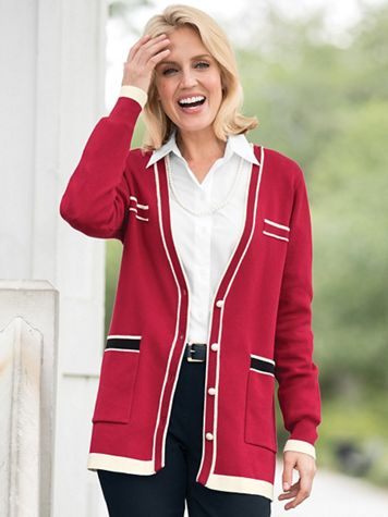 Fairview Tipped Cardigan
