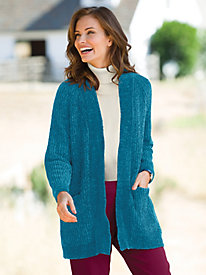 Cozy Chenille Cardigan Sweater