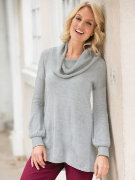Relaxed Cowlneck Sweater