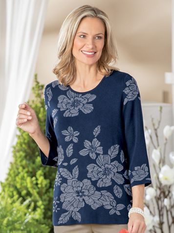 Floral Jacquard Pullover Sweater - Image 2 of 2