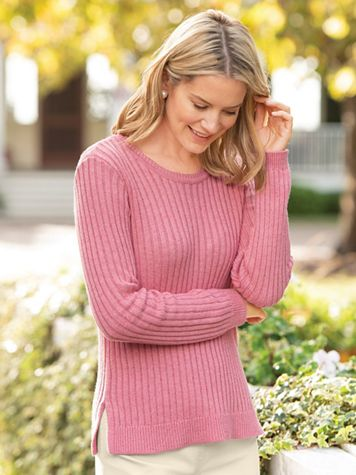 Donegal Rib Cotton Sweater
