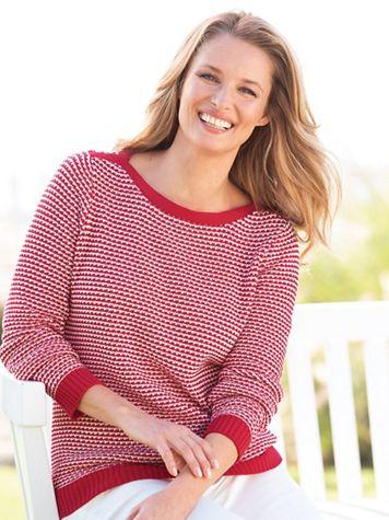 Birdseye Cotton Sweater - Image 1 of 1