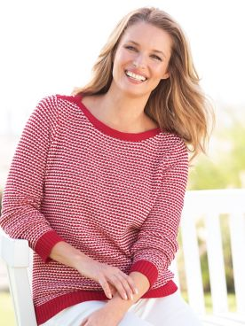 Birdseye Cotton Sweater