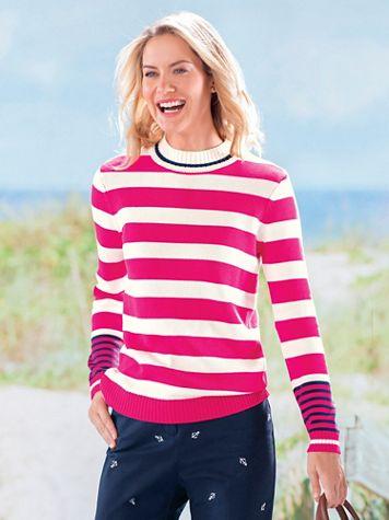 Nautical Stripe Mockneck Sweater