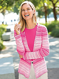 Watercolor Stripe Cardigan