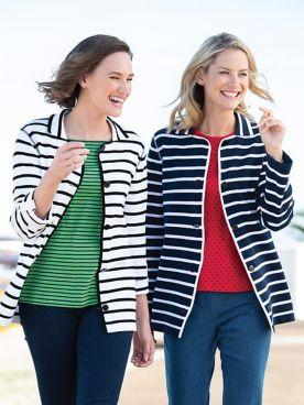Nautical Stripe Sweater Jacket