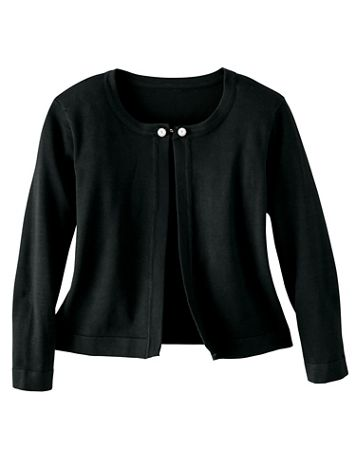 Pearl Closure Shrug Sweater - Image 1 of 3