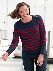 Classic Stripe Crewneck Sweater