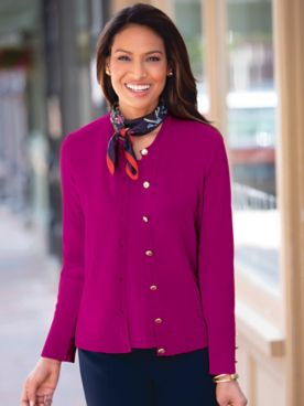 Madison Button-Front Cardigan