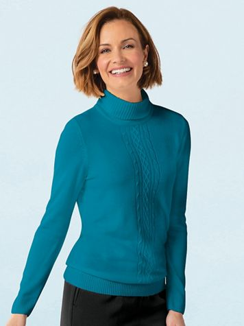 Spindrift Center Cable Turtleneck - Image 1 of 6