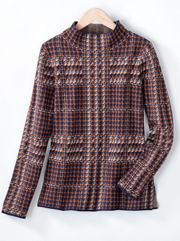 Plaid Mockneck Sweater - Image 4 of 4