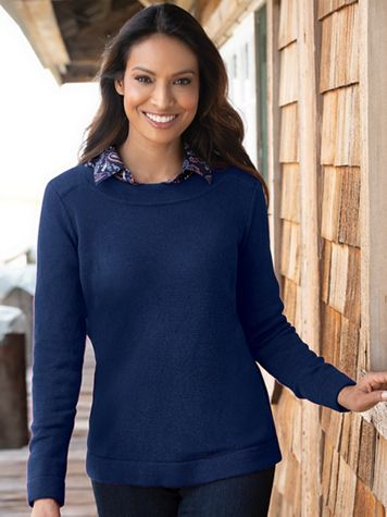 Bateau-Neck Pullover Sweater - Image 1 of 8