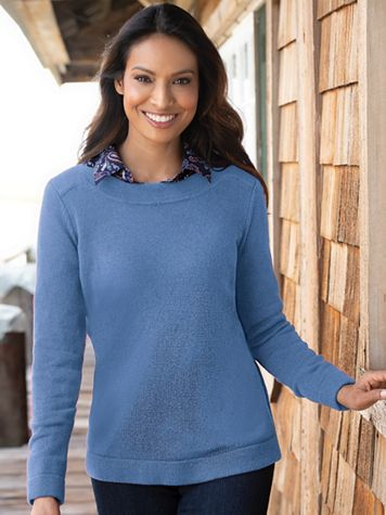 Bateau-Neck Pullover Sweater - Image 5 of 6