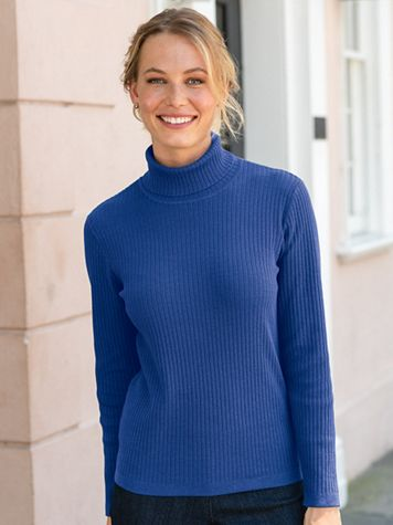 Silk-Blend Turtleneck Sweater - Image 1 of 1
