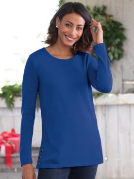Soft Luxe Side-Button Tunic