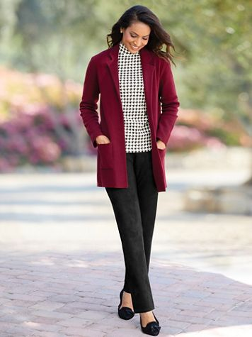 Milano-Stitch Sweater Blazer - Image 1 of 6