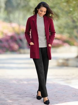 Milano-Stitch Sweater Blazer