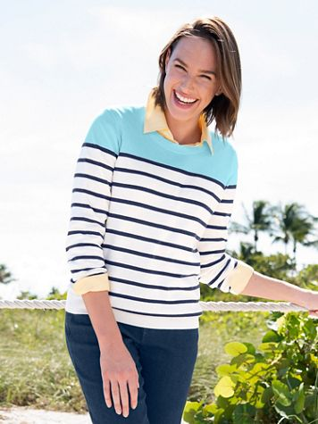 Colorblock Stripe Sweater - Image 3 of 3