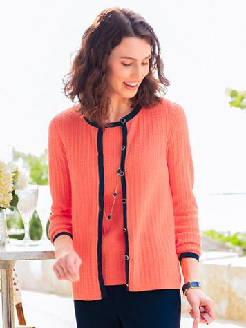 Mini Cable Tipped Cardigan - Image 3 of 3