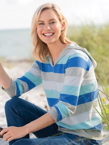 Striped Hooded Sweater - Image 3 of 3
