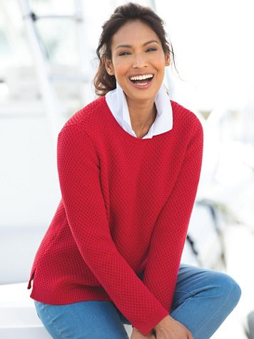 Honeycomb-Stitch Sweater - Image 1 of 4