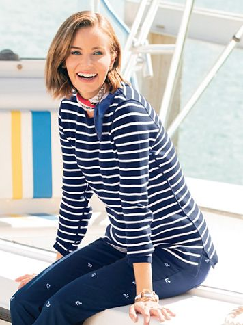 Reversible Stripe Sweater - Image 1 of 6
