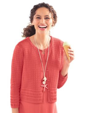 Mixed-Stitch Crochet Cardigan