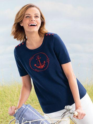 Anchor Motif Sweater - Image 4 of 4