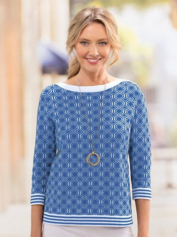 Geo Jacquard Sweater - Image 1 of 4