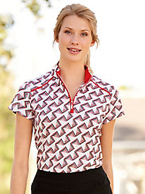 Sport Haley Abstract Print Golf Polo