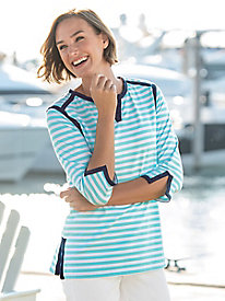 Tipped Striped Tunic