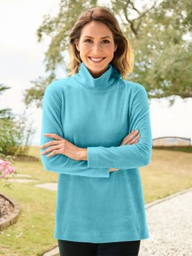 Scrunch Neck Velour Tunic