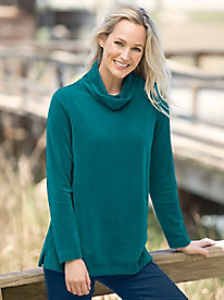 Scrunch Neck Velour Tunic by Appleseed's