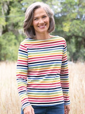 Simply Stripes Tee - Image 1 of 8