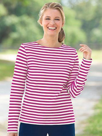 Simply Stripes Long Sleeve Tee - Image 3 of 3