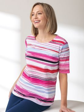 Multi Stripe Tee Shirt