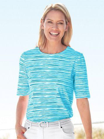 Brushstroke Stripe Tee - Image 1 of 5