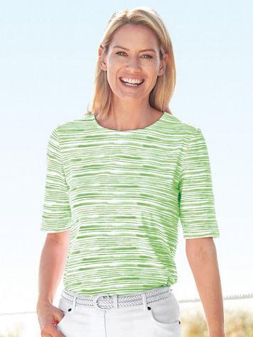 Brushstroke Stripe Tee - Image 2 of 2