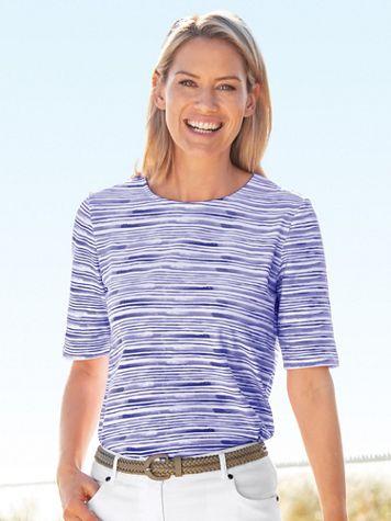 Brushstroke Stripe Tee - Image 3 of 3