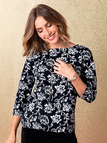 Damask Floral Tee - Image 1 of 1