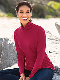 Long-Sleeve Scrunchneck Top by Appleseed's